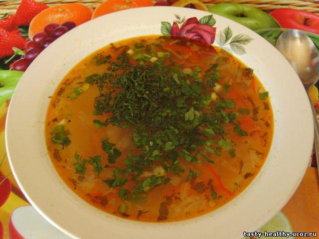 Schi s pomidorami i bolgarskim pertsem